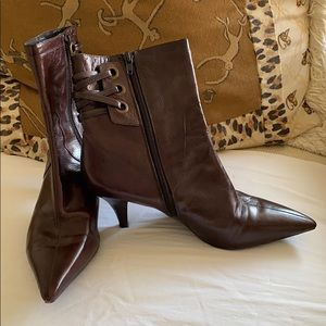 Nine West Brown leather ankle boots